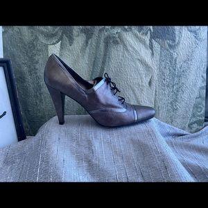 Stuart Weitzman Genuine Leather Lace Up Heels